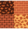 seamless textureof bricks and ground vector image vector image