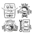 set hot rod vector image vector image