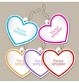 Set of bubbles stickers labels tags Shape of