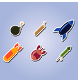 set of color icons with bombs vector image