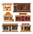 set store buildings shops design vector image