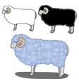 sheep in different styles vector image vector image