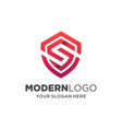 shield letter s logo design with 3d style vector image vector image