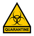sign symbol quarantine zone area stop novel vector image
