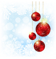 Sparkling Christmas Red Crystal Ball vector image vector image