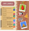 Sri Lanka infographics statistical data sights vector image