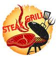 steak grilled barbecue design vector image vector image