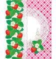strawberry card 1 380 vector image vector image