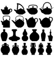 tea teapot wine bottle japanese chinese oriental vector image vector image