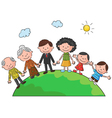 The worlds complete family in the a circle in the vector image vector image