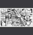 tianjin china city map in black and white color vector image vector image