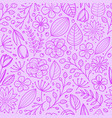 violet floral seamless background template vector image vector image