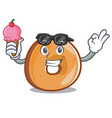 with ice cream bagels character cartoon style vector image