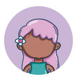 young girl avatar vector image