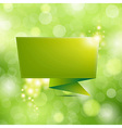 Nature Background With Origami vector image