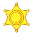 Sheriff star Icon Cap icon cartoon style vector image