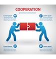 Cooperation and teamwork template vector image