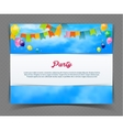 Party banner with flags and ballons vector image