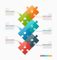 6 options infographic template vector image vector image