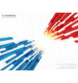 abstract blue red technology line geometric vector image