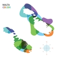 Abstract color map of Malta vector image vector image