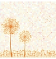 abstract colorful dandelion vector image vector image