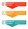 Abstract modern infographics options banner vector image vector image