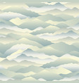abstract wave seamless pattern mountain skyline vector image vector image