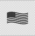 american flag icon isolated flag of usa vector image vector image