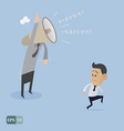Angry boss upset cartoon vector image