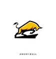 angry bull template vector image