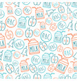 back to school seamless pattern with symbols vector image