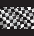 background of checkered flag pattern vector image vector image