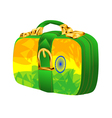 bag with india flag vector image vector image