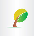 bended tree eco icon design vector image vector image