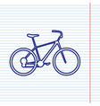 bicycle bike sign navy line icon on vector image vector image