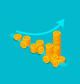 bitcoin income money stack vector image vector image