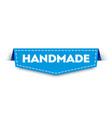 blue handmade label modern web banner element vector image vector image