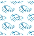 Blue ocean waves seamless pattern vector image vector image