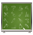building and construction work tool icons vector image vector image