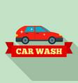 car wash logo flat style vector image