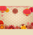 chinese traditional style holiday frame template vector image vector image