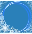 Christmas background with neon ring vector image vector image