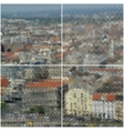 City landscape Collection of abstract vector image
