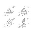 collagen skin eye drops and uv protection icons vector image vector image