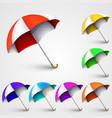 colored umbrellas vector image vector image