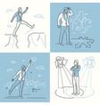 confident businessman - set of line design style vector image vector image
