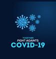 corona virus banner design vector image vector image