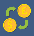 Currency exchange Dollar and Pound Sterling vector image vector image