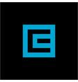 e logo abstract square vector image